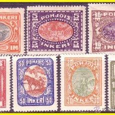 Sellos: INGRIA (RUSIA) 1920 YVERT Nº 8 A 14 *. Lote 44210385