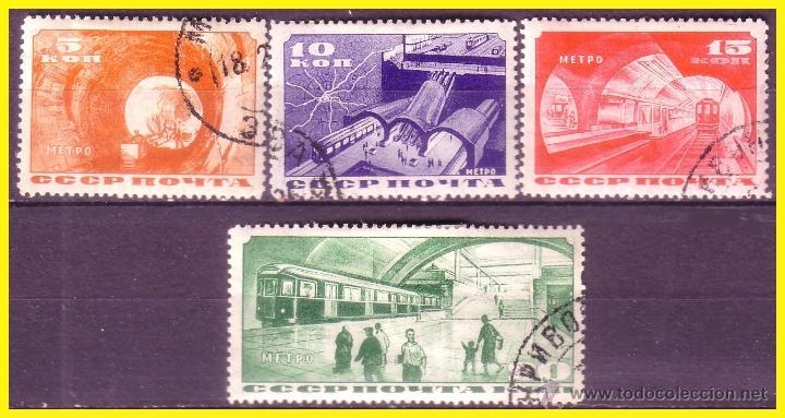 RUSIA 1935 IVERT Nº 551 A 554 (O) COMPLETA (Sellos - Extranjero - Europa - Rusia)
