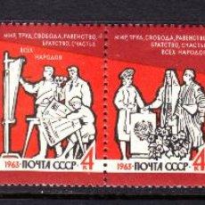 Sellos: RUSIA 2722/27** - AÑO 1963 - PAZ. Lote 195245070