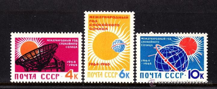 RUSIA 2768/70** - AÑO 1964 - AÑO INTERNACIONAL DE CALMA SOLAR (Sellos - Extranjero - Europa - Rusia)