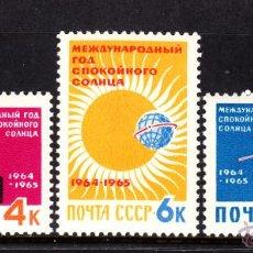 Sellos: RUSIA 2768/70** - AÑO 1964 - AÑO INTERNACIONAL DE CALMA SOLAR. Lote 195438153