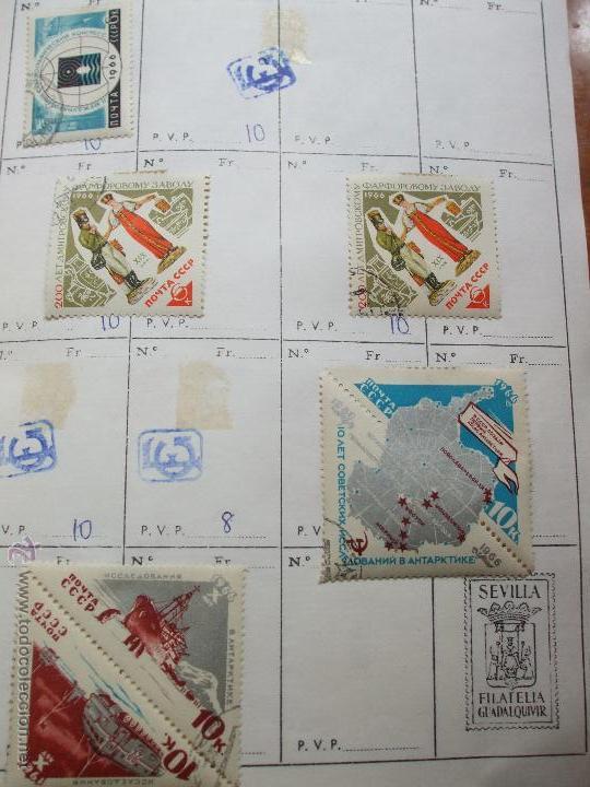 Sellos: .rusia 8 libretas aproximadamente 812 sellos clasificados, diversas calidades + fotos - Foto 2 - 50663116
