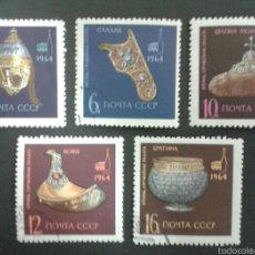 Sellos: SELLOS DE RUSIA (URSS). ARTESANÍA. YVERT 2904/8. SERIE COMPLETA USADA.. Lote 54311046
