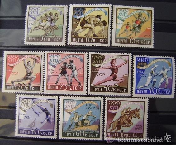 RUSIA 1960 IVERT 2310/9 *** JUEGOS OLIMPICOS DE ROMA - DEPORTES (Sellos - Extranjero - Europa - Rusia)