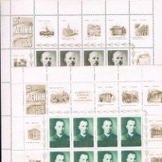 Sellos: RUSIA. CENTENARIO DE LENIN. SERIE EN HOJA CON 8 SELLOS Y 16 VIÑETAS. Lote 62815120