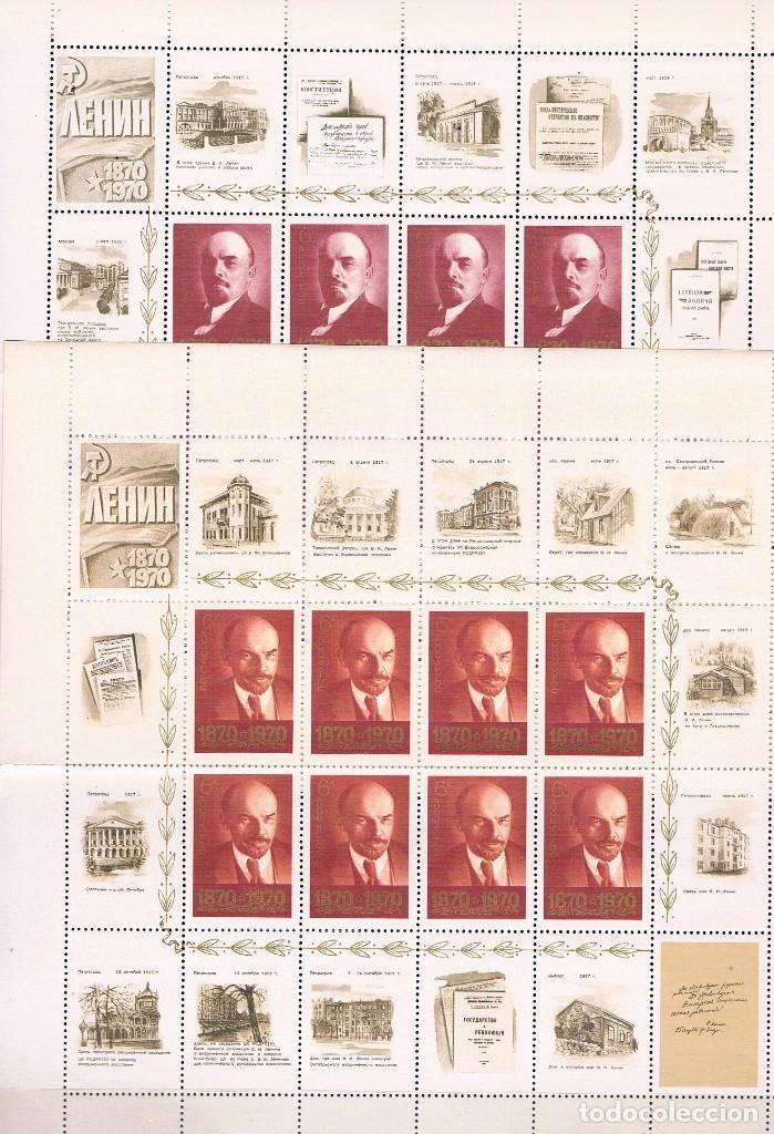 Sellos: Rusia. Centenario de Lenin. Serie en Hoja con 8 sellos y 16 viñetas - Foto 3 - 62815120