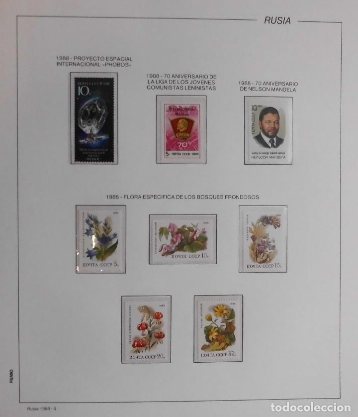 Rusia - urss 1986 a 1991, albun de sellos antig - Sold through