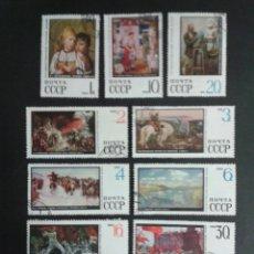 Timbres: SELLOS DE RUSIA (URSS). YVERT 3443/52. SERIE COMPLETA USADA. . Lote 68531273