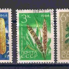 Sellos: FRUTOS DE RUSIA. SELLOS AÑO 1964. Lote 89074264