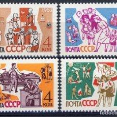 Sellos: RUSIA 1963 IVERT 2628/31 *** POR LOS NIÑOS. Lote 137435230