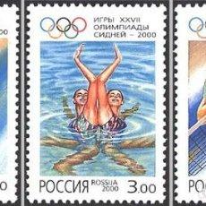 Timbres: RUSIA 2000 0610-0612. JUEGOS DE VERANO DE LA XXVII OLIMPIADA SYDNEY'2000. Lote 156604250