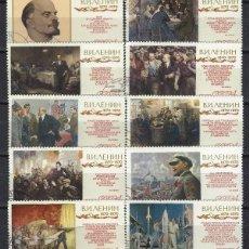 Sellos: UNIÓN SOVIÉTICA / RUSIA 1970 - I CENT. DEL NACIMIENTO DE LENIN, S.COMPLETA - SELLOS USADOS. Lote 157011406