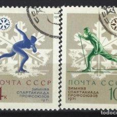 Sellos: UNIÓN SOVIÉTICA / RUSIA 1970 - ESPARTAKIADA DE INVIERNO , S.COMPLETA - SELLOS USADOS. Lote 157013318