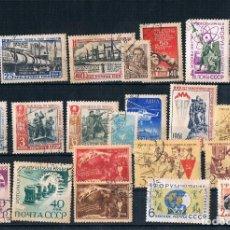 Sellos: LOTE DE SELLOS DE RUSIA USADOS UNAS 13 SERIES Y OTROS 1960/1961. Lote 171544178