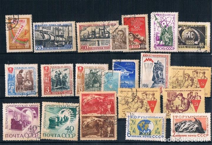 LOTE DE SELLOS DE RUSIA USADOS UNAS 13 SERIES Y OTROS 1960/1961 (Sellos - Extranjero - Europa - Rusia)