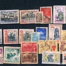 Sellos: LOTE DE SELLOS DE RUSIA USADOS UNAS 13 SERIES Y OTROS 1960/1961. Lote 174187978