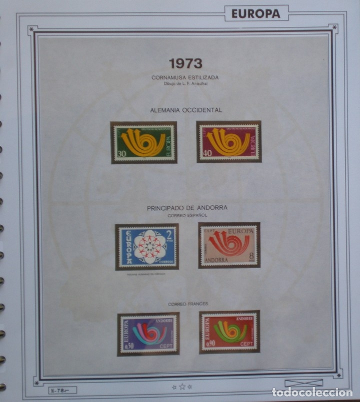 TEMA EUROPA CEPT AÑO 1973 NO COMPLETO ¡¡ FALTA CHIPRE !! NUEVOS * * 6 FOTOS - LEER COMENTARIO (Sellos - Extranjero - Europa - Rusia)