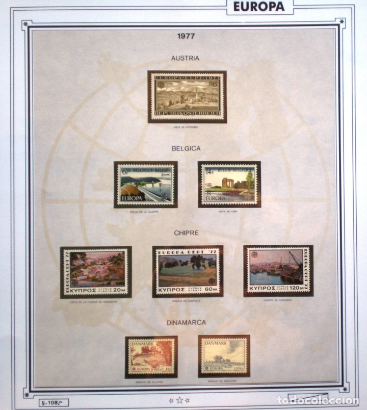 Sellos: EUROPA CEPT AÑO 1977 COMPLETO NUEVOS * * 9 FOTOS - LEER COMENTARIO - Foto 2 - 176197714
