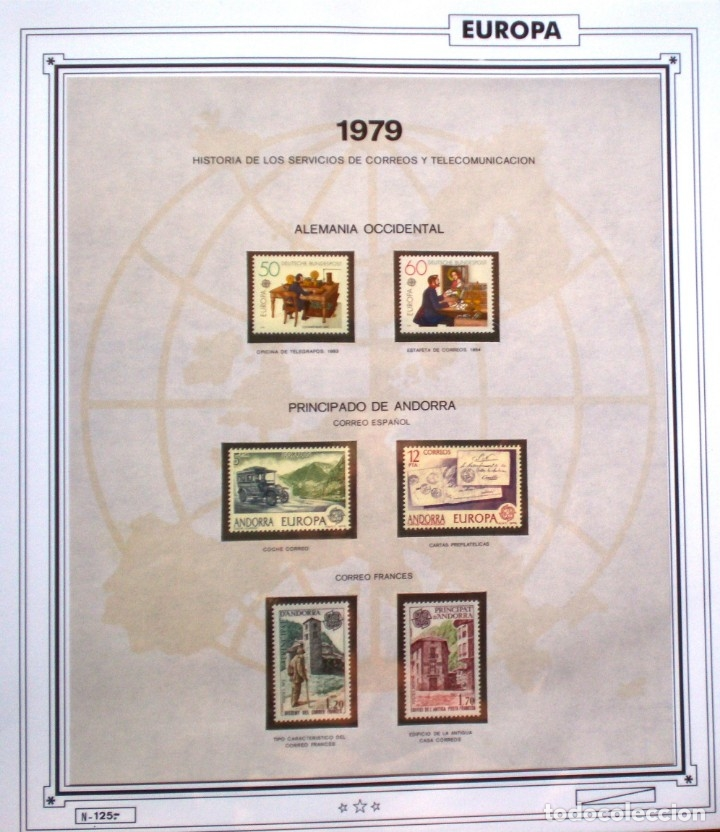 EUROPA CEPT - AÑO 1979 COMPLETO - NUEVOS * * 10 FOTOS - LEER COMENTARIO (Sellos - Extranjero - Europa - Rusia)
