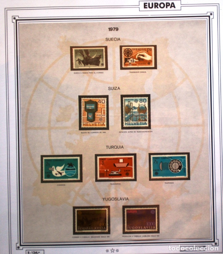 Sellos: EUROPA CEPT - AÑO 1979 COMPLETO - NUEVOS * * 10 FOTOS - LEER COMENTARIO - Foto 10 - 176199583