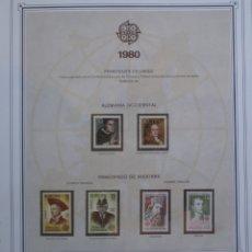 Sellos: EUROPA CEPT - AÑO 1980 COMPLETO - NUEVOS * * 10 FOTOS - LEER COMENTARIO. Lote 176229048
