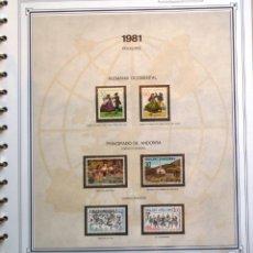 Sellos: EUROPA CEPT - AÑO 1981 COMPLETO - NUEVOS * * 12 FOTOS - LEER COMENTARIO. Lote 176229523