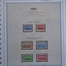 Sellos: EUROPA CEPT - AÑO 1984 COMPLETO - NUEVOS * * 12 FOTOS - LEER COMENTARIO. Lote 176230157