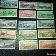 Sellos: RUSIA-SELLOS AÑO 1958 SERIE 2121/35. Lote 179093302