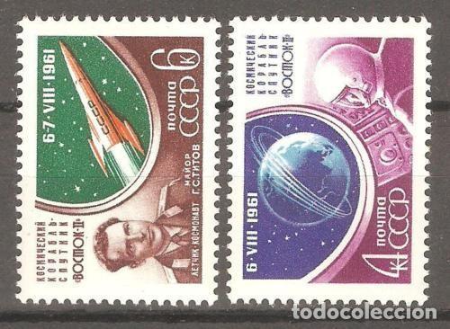 URSS,1961,CAT.YT.2452/2453.NUEVOS,GOMA ORIGINAL,PUEDE PRESENTAR ALGUN LIGERO DEFECTO. (Sellos - Extranjero - Europa - Rusia)