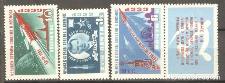 URSS,1961,CAT.YT. PA 2401/2404.NUEVOS,GOMA ORIGINAL, PUEDE PRESENTAR ALGUN LIGERO DEFECTO. (Sellos - Extranjero - Europa - Rusia)