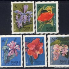 Sellos: RUSIA 1971 - FLORES - YVERT Nº 3791-3795**. Lote 206362590