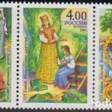 Sellos: RUSIA 2004 IVERT 6775/7 *** 125º ANIVERSARIO DEL NACIMIENTO DEL ESCRITOR DE CUENTOS PAVEL BAZHOV. Lote 217833560