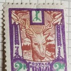 Francobolli: SELLO TANNU TUVA 1927 CIERVO ROJO (CERVUS ELAPHUS) 2 KOPEK. Lote 249129495