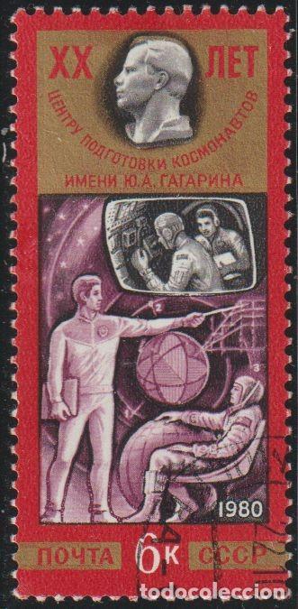 RUSIA URSS 1980 SCOTT 4862 SELLO * ESPACIO CENTRO DE ENTRENAMIENTO DE COSMONAUTAS YURI GAGARIN 4991 (Sellos - Extranjero - Europa - Rusia)
