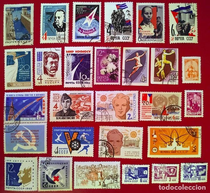 Sellos: Lote 50 sellos Unión Soviética años 60 - Foto 2 - 264571074