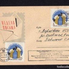 Sellos: HISTORIA POSTAL CCCP UNION SOVIETICA 1963. Lote 284378183