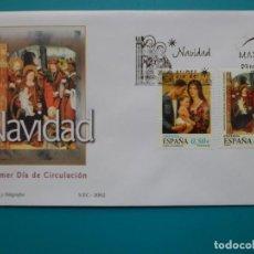 Francobolli: 2002-ESPAÑA-SELLOS-SOBRES PRIMER DIA-SERIE COMPLETA-NAVIDAD. Lote 294861683