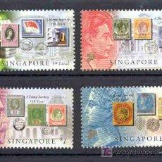 Sellos: SINGAPUR 2004.- DIA DEL SELLO. 150 ANIVERSARIO DEL PRIMER SELLO EN SINGAPUR. Lote 26756689