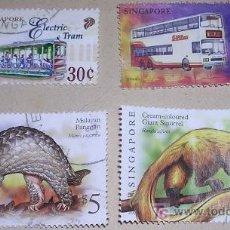 Sellos: LOTE DE SELLOS DE SINGAPUR - CIRCULADOS - ; VER DETALLES EN DESCRIPCIÓN. Lote 17458623
