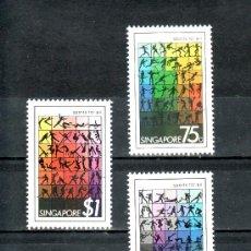 Sellos: SINGAPUR 373/5 SIN CHARNELA, DEPORTE PARA TODOS,. Lote 24229293