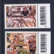 Sellos: SINGAPUR 2012. ALIMENTACION. MERCADO DE PRODUCTOS FRESCOS. Lote 41587170