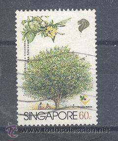 SINGAPUR,FLORES (Sellos - Extranjero - Asia - Singapur)