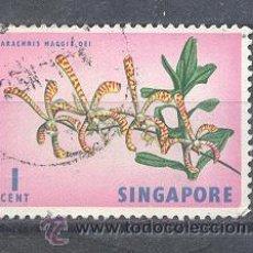 Sellos: SINGAPUR,FLORES. Lote 42684789