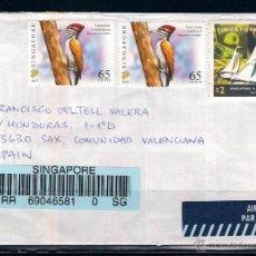 Sellos: CARTA CERTIFICADA ENTRE SINGAPUR Y SAX . AÑO 2010. Lote 50164068