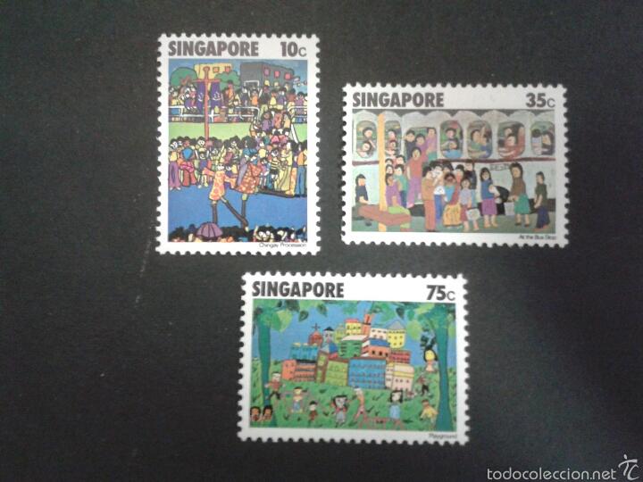 SELLOS DE SINGAPUR. YVERT 284/6. SERIE COMPLETA NUEVA SIN CHARNELA. (Sellos - Extranjero - Asia - Singapur)