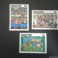 Sellos: SELLOS DE SINGAPUR. YVERT 284/6. SERIE COMPLETA NUEVA SIN CHARNELA.. Lote 52851372