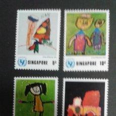 Sellos: SELLOS DE SINGAPUR. DIBUJOS INFANTILES. YVERT 217/20. SERIE COMPLETA NUEVA SIN CHARNELA.. Lote 52851377