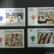 Sellos: SELLOS DE SINGAPUR.. DIBUJOS INFANTILES. YVERT 327/30. SERIE COMPLETA NUEVA SIN CHARNELA.. Lote 52851382