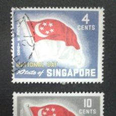 Sellos: SELLOS DE SINGAPUR. YVERT 49/50. SERIE COMPLETA USADA.. Lote 54573168