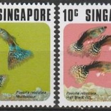 Sellos: SINGAPUR. 1975 (16-300) SERIE. PECES. **,MNH. Lote 56877812